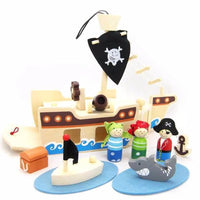 Wooden Pirate Play Set