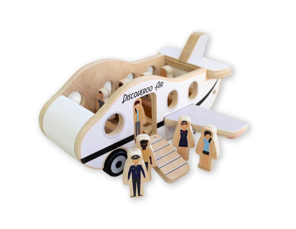 wooden toys allebasi kids aeroplane play set