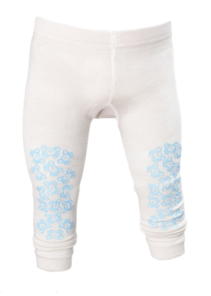TIGHTS BAMBUS Antiskli  Beige/Lys blå
