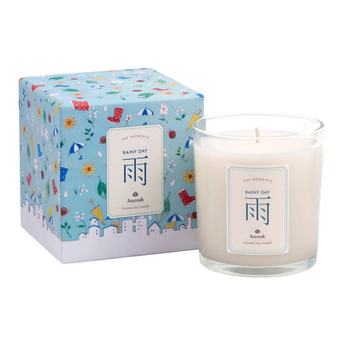 Rainy Day Scented Soy Candle . 雨