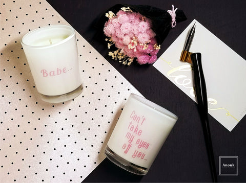 to my babe · Scented Soy Candle Votive Duo Gift Set