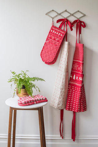 Christmas Jumper Pattern Apron - Red