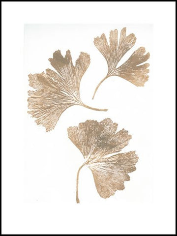Gold Gingko Limited Edition Print - 30cm x 40cm