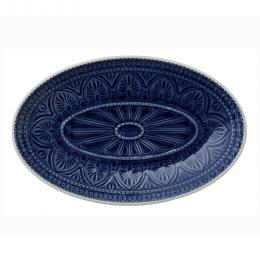 Large Stoneware Platter in Ocean Blue