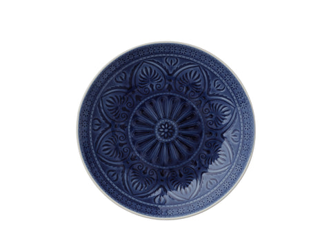 Ocean Blue Patterned Ceramic Dinner Plate
