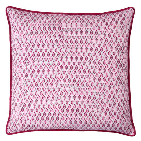 Red Neem Print Cushion