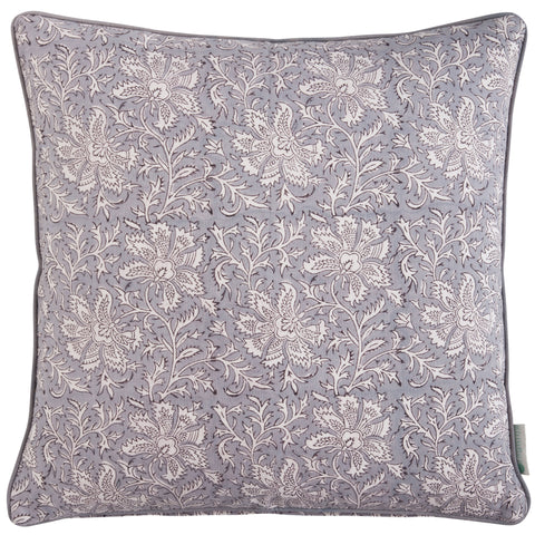 Grey Lakshmi Print Cushion