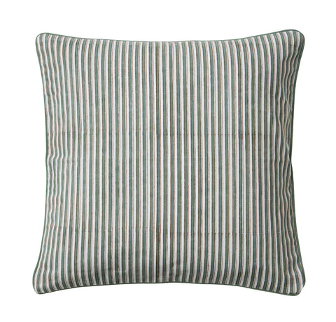 Green Cochin Stripe Cushion
