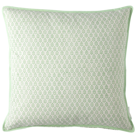 Fresh green printed cushion