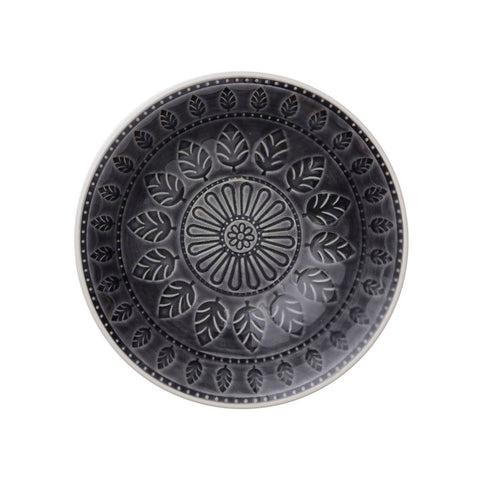 Charcoal Black Patterned Small Bowl