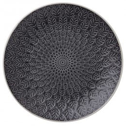 Charcoal Black Neem Ceramic Plate