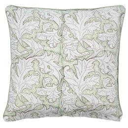 Green Flora Print Cushion