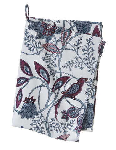 Blue Phulphul Print Tea Towel