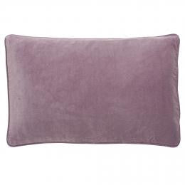 Pink Mauve Velvet Button Closure Cushion