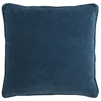 Dark Teal Blue Square Velvet Cushion
