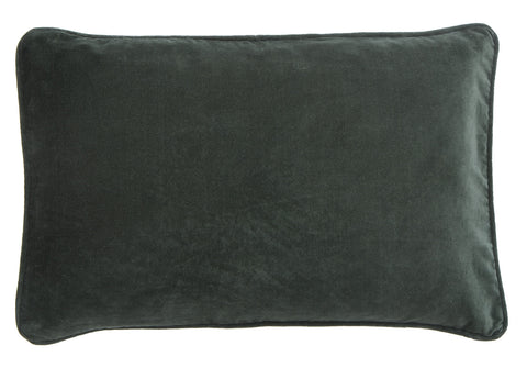 Velvet cushion with button detail closure
