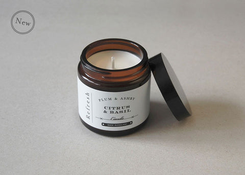 Plum & Ashby Refresh Travel Candle - Citrus & Basil