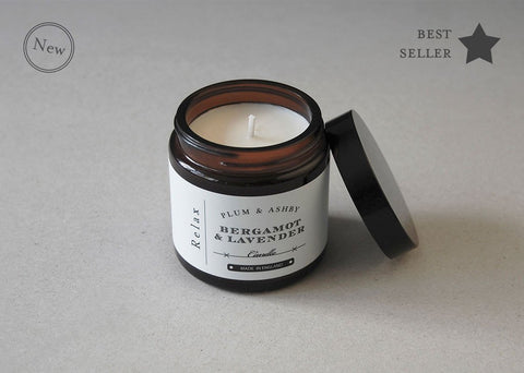 Plum & Ashby Relax Travel Candle - Bergamot & Lavender