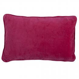 Pink Velvet Button Closure Cushion