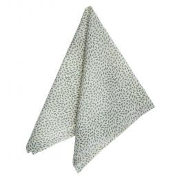 Soft Green Mini Leaf Print Napkin - Set of Four