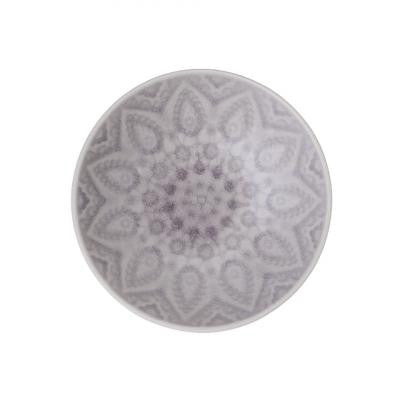 Grey Patterned Stoneware Bowl - Small