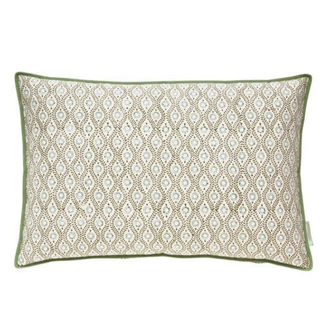 Green Lulu Printed Cushion