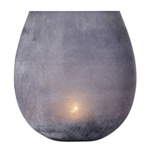 Frosted Grey Tealight Glass