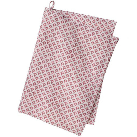 Pink Rose Meena Tea towel