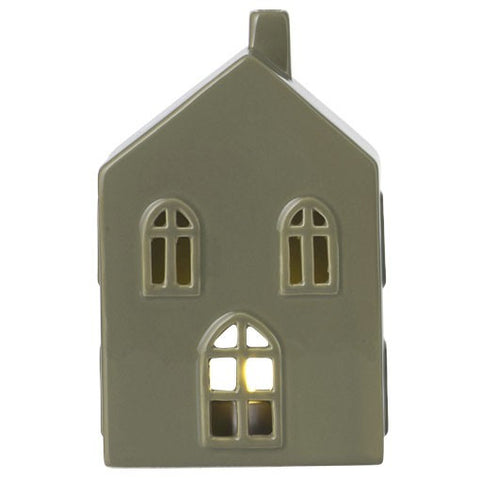 Moss Green Medium Ceramic House