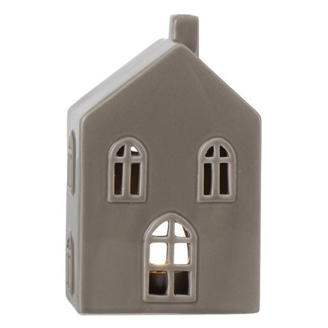 Dark Taupe Medium Ceramic House