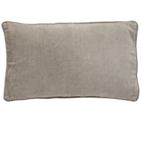 Sand Velvet Button Closure Cushion