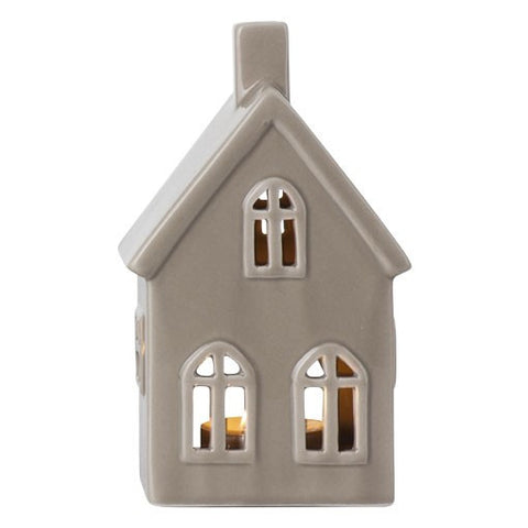 Dark Taupe Small Ceramic House