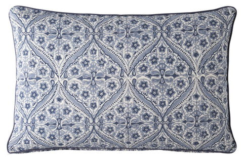 Blue Kumari Print Cushion