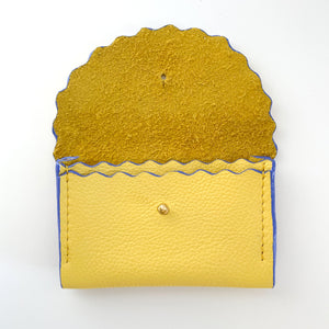 Summer Yellow Dora Purse with Lilac Edges