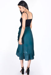 Green Swing Wrap Skirt