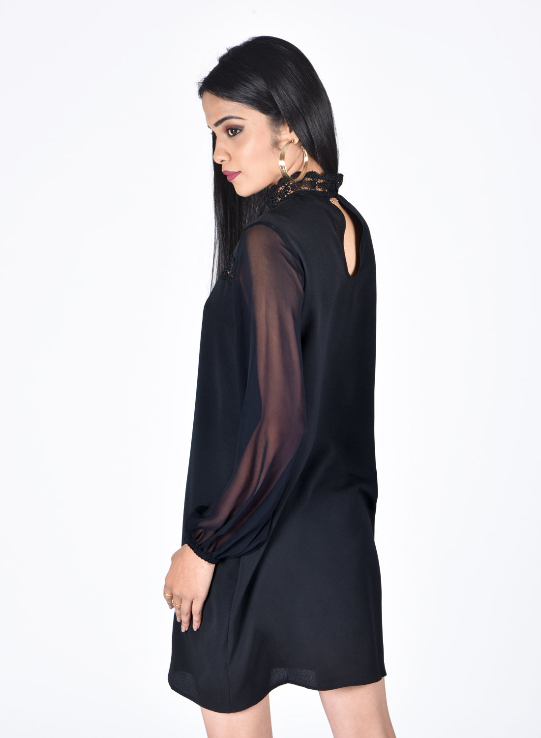 Relaxed Fit Black Dress