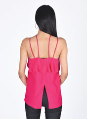 Pink Open Back Top