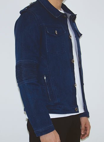 Stone Washed Denim Jaket