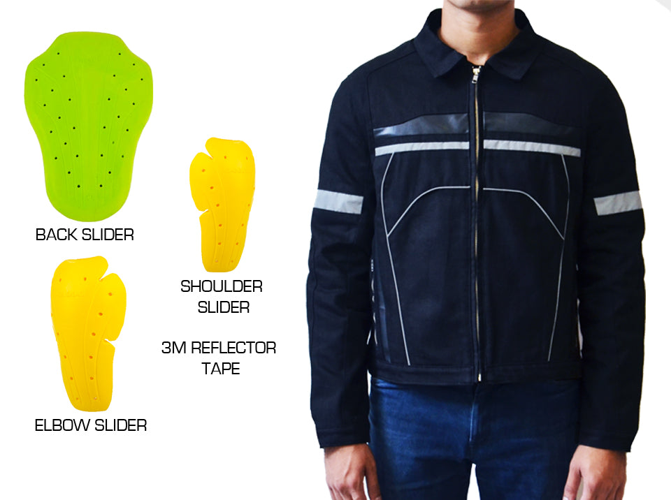 MOTO Reflector Jacket with Sliders