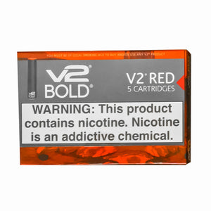 V2 Bold Cartridges - 3.4% nicotine (5-Pack)