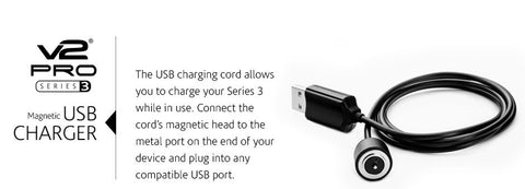 Buy V2Pro Series 3 Magnetic USB Charger Cord in India. vape.co.in