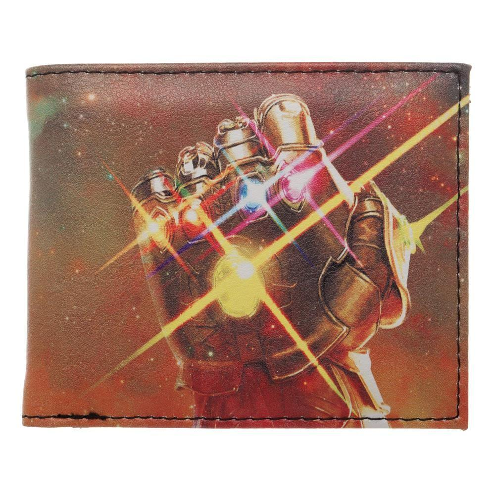 18aa195ff Thanos Gauntlet with Infinity Stones Nylon Printed Bi Fold Wallet, Space  All Over Print, Avengers Infinity War Theme