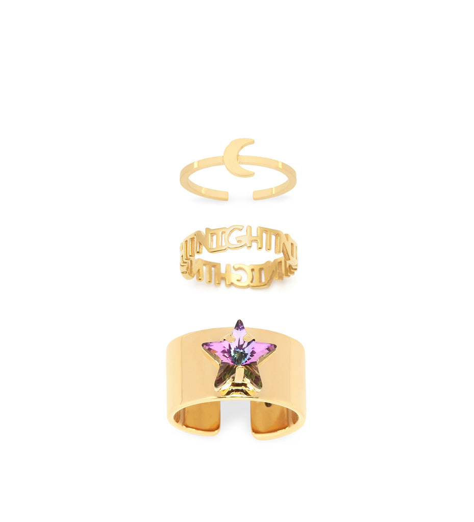 Maria Francesca Pepe Set Night Ring