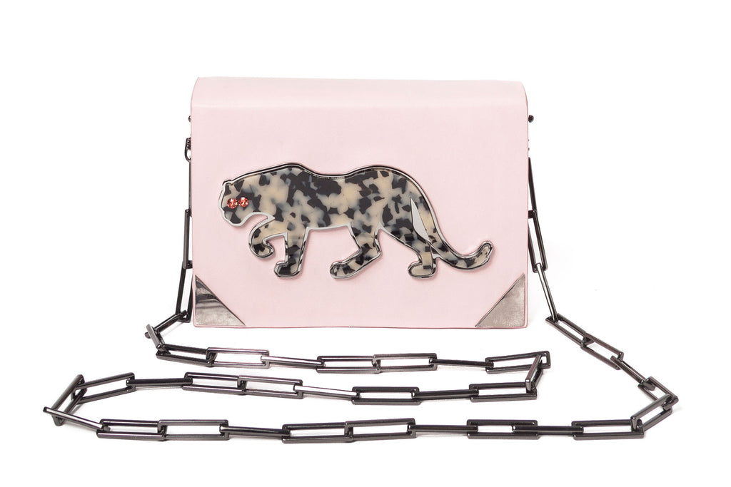 benedetta bruzziches book bag panther front with chain