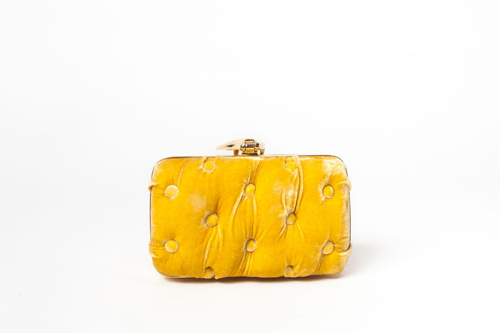 Carmen mano velet bag yellow back