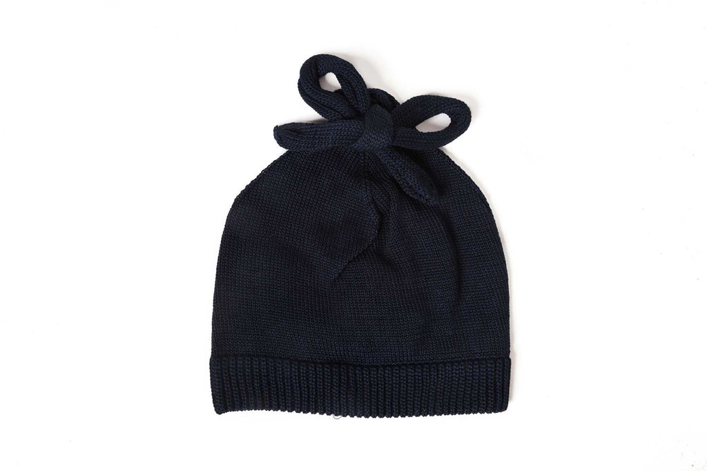 Federica Moretti Black Beanie with Lace