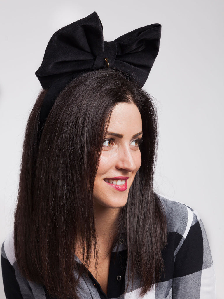 Federica Moretti Ada Black Hairband Collection