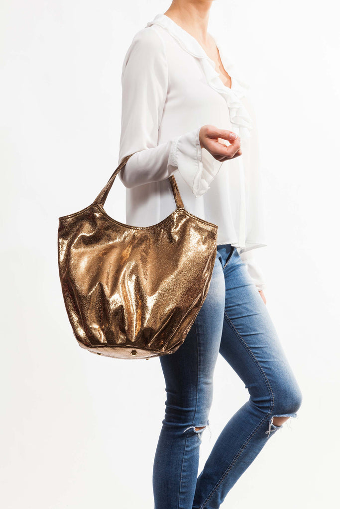 L'Aura Armando bronzed bag collection