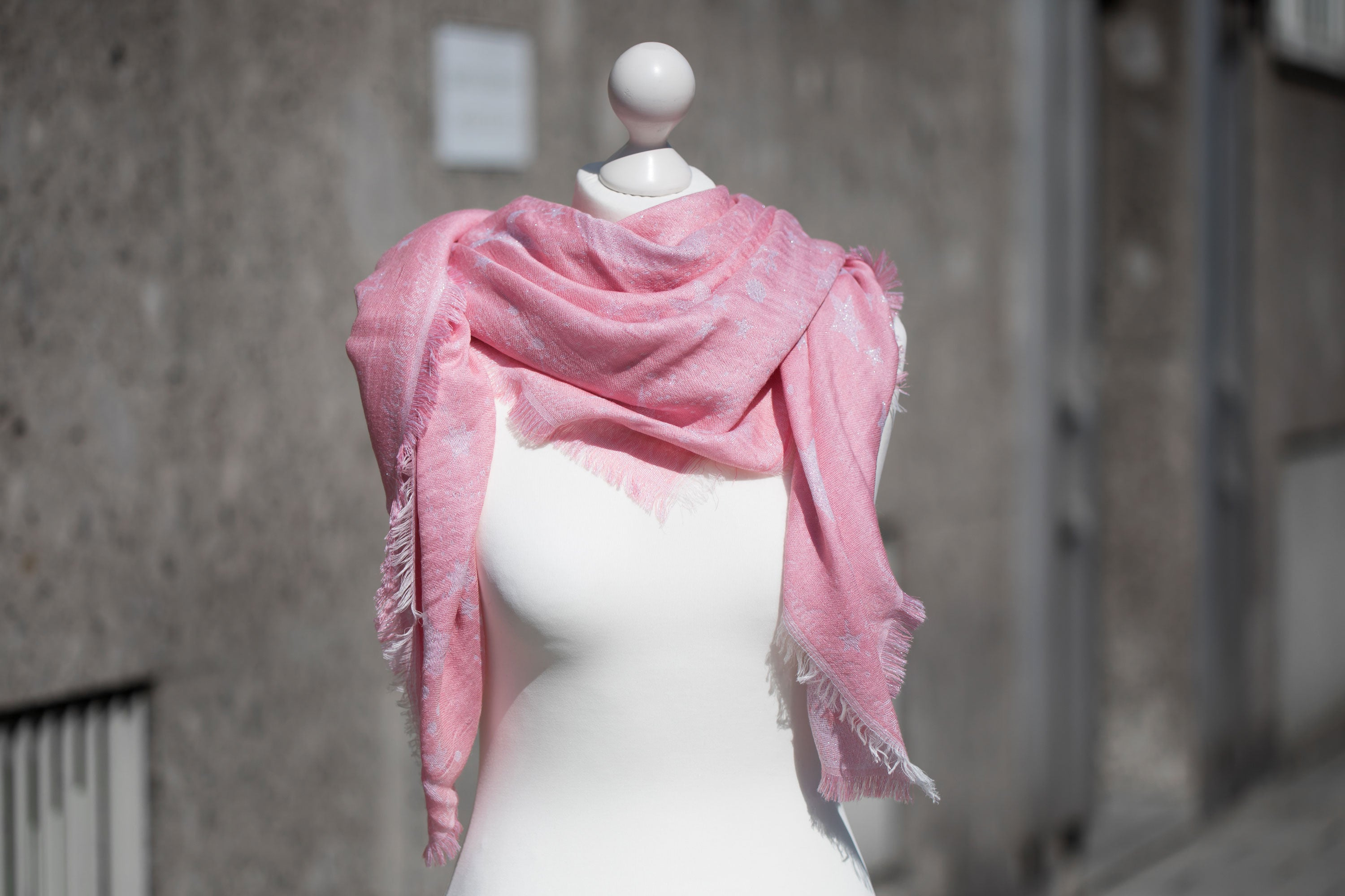 Astra Glittery Blush scarf - 2nd choice (thread shifts)
