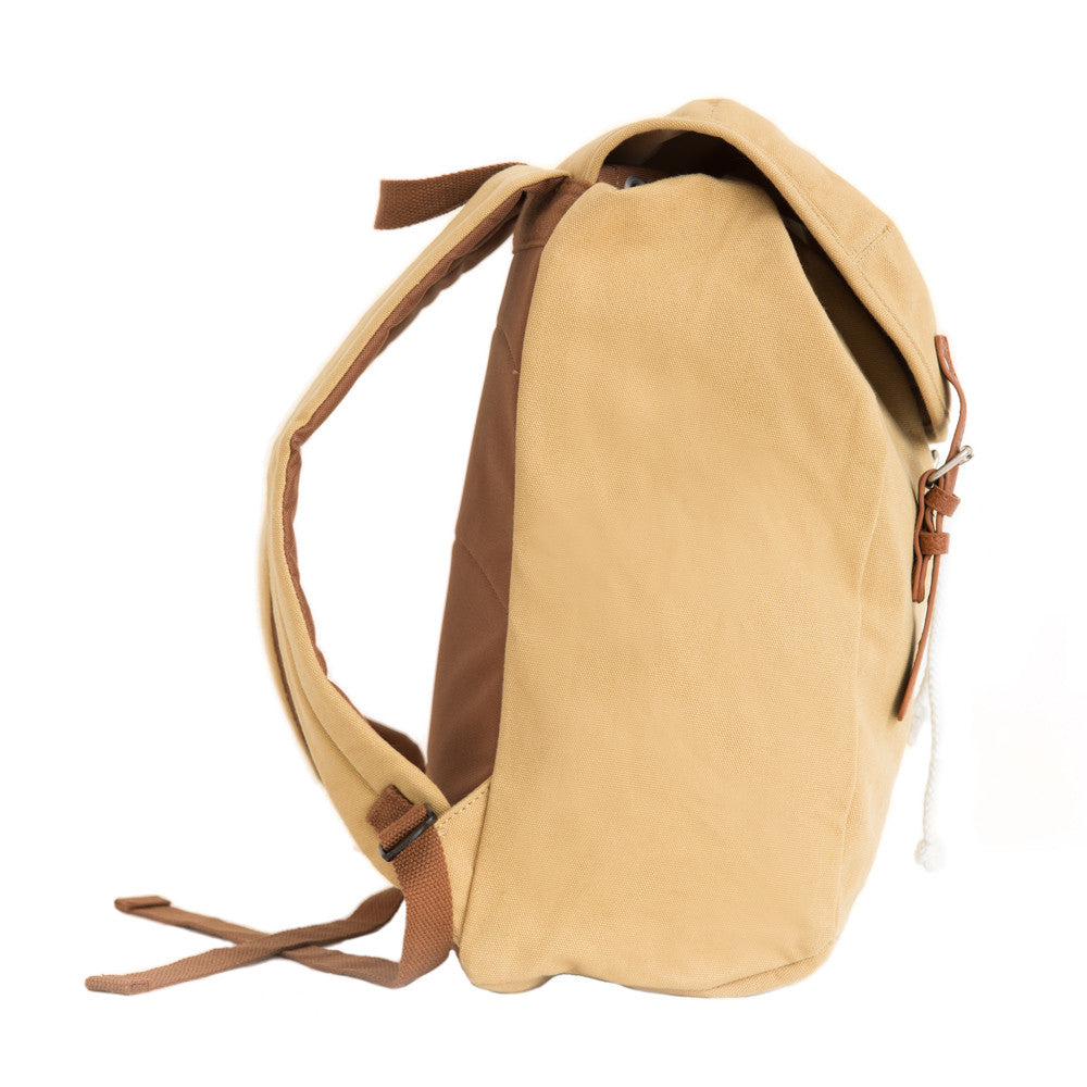 The Cedar 100% Cotton Canvas Sand Backpack